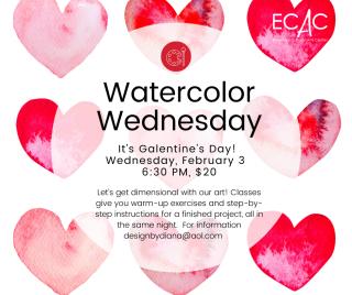 february watercolor wednesday
