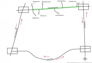 Glendale Milford Detour Route